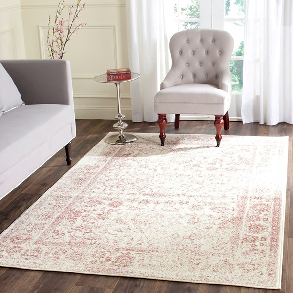Ivory, Rose (H) Vintage / Overdyed Area Rug
