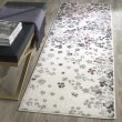 Product Image of Ivory, Purple (L) Contemporary / Modern Area Rug