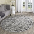 Product Image of Black, Silver (A) Contemporary / Modern Area Rug