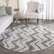 Product Image of Silver, Charcoal (P) Chevron Area Rug