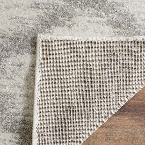 Ivory, Silver (B) Transitional Area Rug