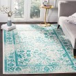 Product Image of Ivory, Teal (D) Vintage / Overdyed Area Rug