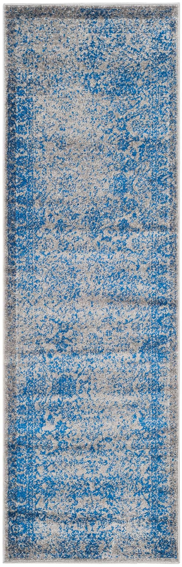 Grey, Blue (A) Vintage / Overdyed Area Rug