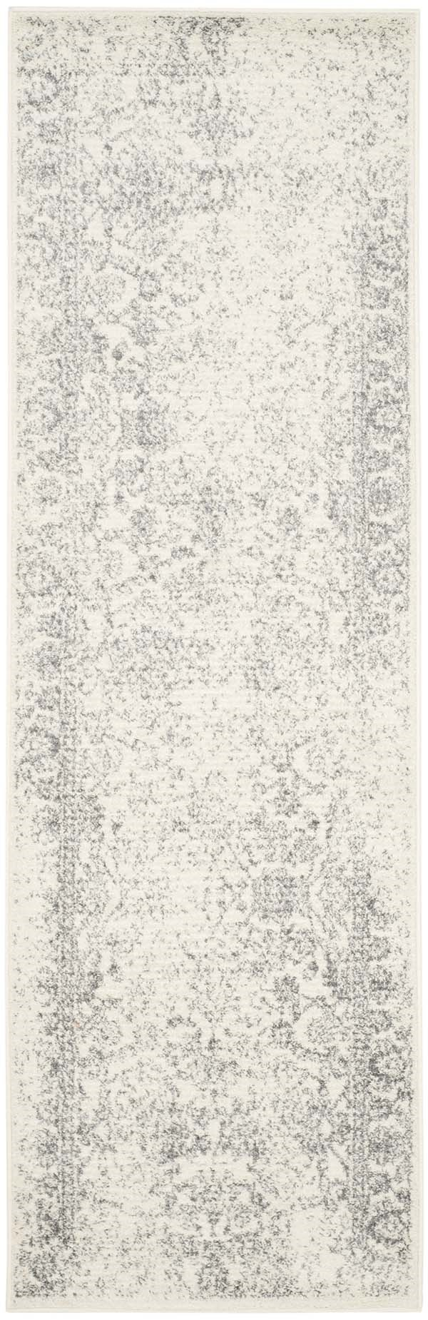 Ivory, Silver (C) Vintage / Overdyed Area Rug