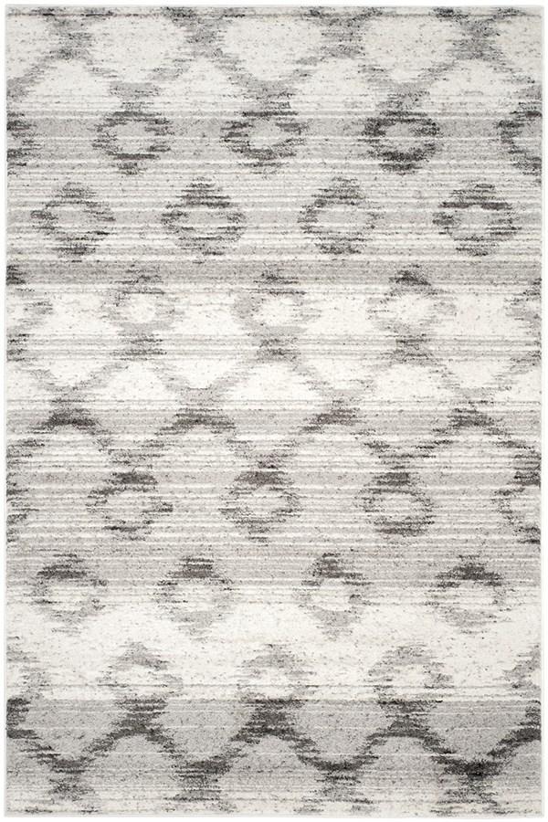 Silver, Charcoal (P) Southwestern / Lodge Area Rug