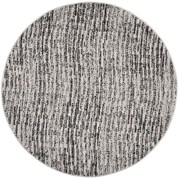 Black, Silver (A) Contemporary / Modern Area Rug