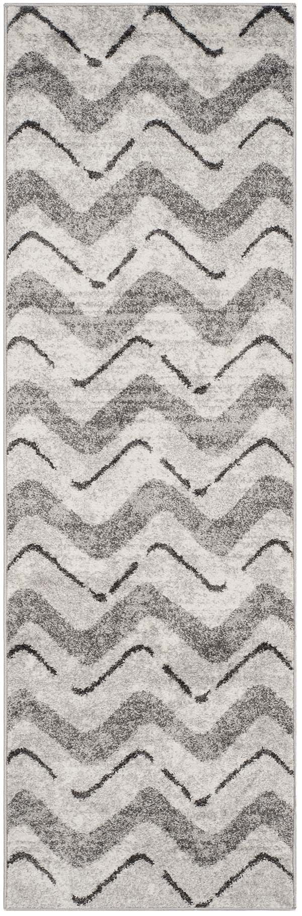 Silver, Charcoal (P) Chevron Area Rug