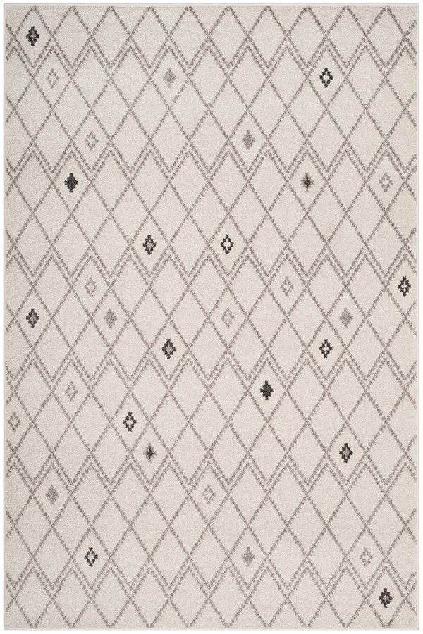 Ivory, Grey (B) Rustic / Farmhouse Area Rug