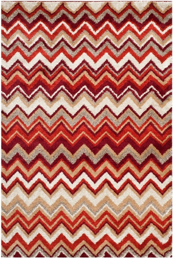Beige, Terracotta (B) Southwestern / Lodge Area Rug