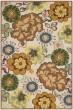 Product Image of Floral / Botanical Ivory, Brown (A) Area Rug