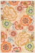 Product Image of Floral / Botanical Beige, Red (E) Area Rug
