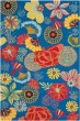 Product Image of Floral / Botanical Blue, Red (A) Area Rug