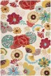 Product Image of Floral / Botanical Ivory, Red (B) Area Rug