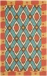 Product Image of Southwestern / Lodge Light Blue, Red (L) Area Rug