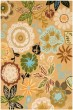 Product Image of Floral / Botanical Taupe (A) Area Rug