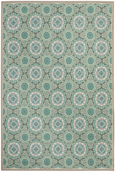 Mint, Aqua (D) Contemporary / Modern Area Rug