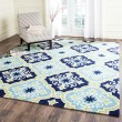 Product Image of Navy, Light Blue (A) Moroccan Area Rug