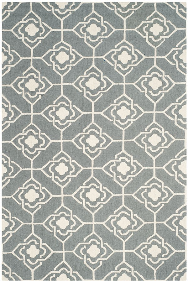 Grey, Ivory (B) Moroccan Area Rug