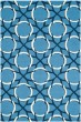 Product Image of Contemporary / Modern Blue, Ivory (A) Area Rug