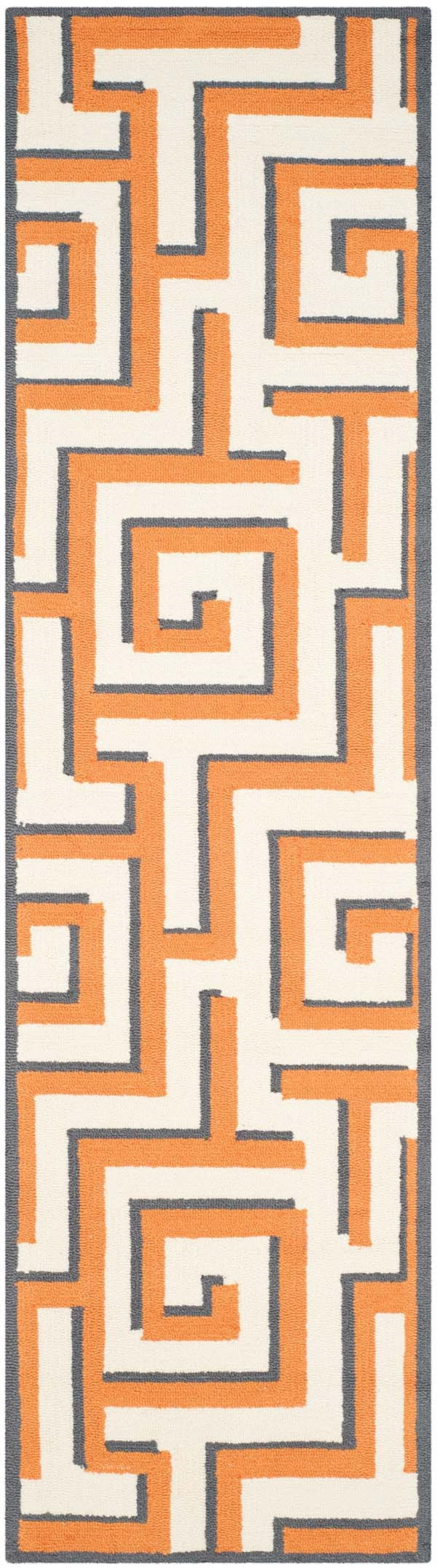 Ivory, Brown (L) Contemporary / Modern Area Rug