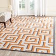 Product Image of Ivory, Brown (L) Contemporary / Modern Area Rug
