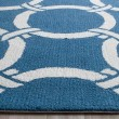 Product Image of Navy, Ivory (H) Contemporary / Modern Area Rug
