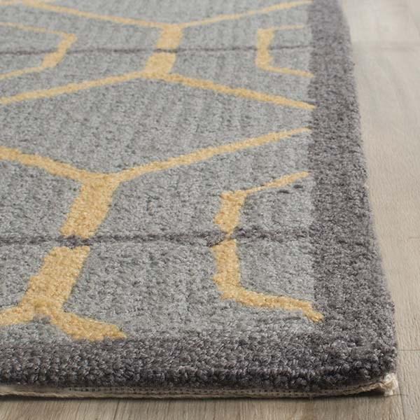 Grey, Gold (F) Moroccan Area Rug