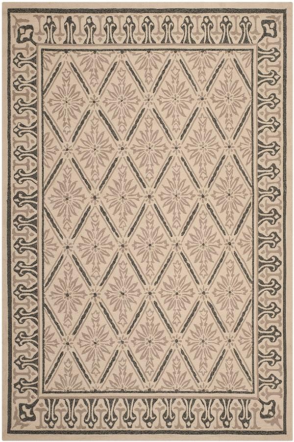 Beige, Slate (A) Traditional / Oriental Area Rug