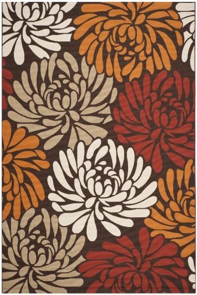 Chocolate, Terracotta (0325) Outdoor / Indoor Area Rug