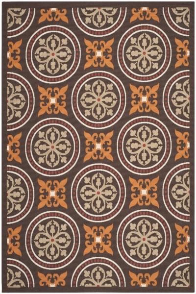 Chocolate, Terracotta (0325) Contemporary / Modern Area Rug