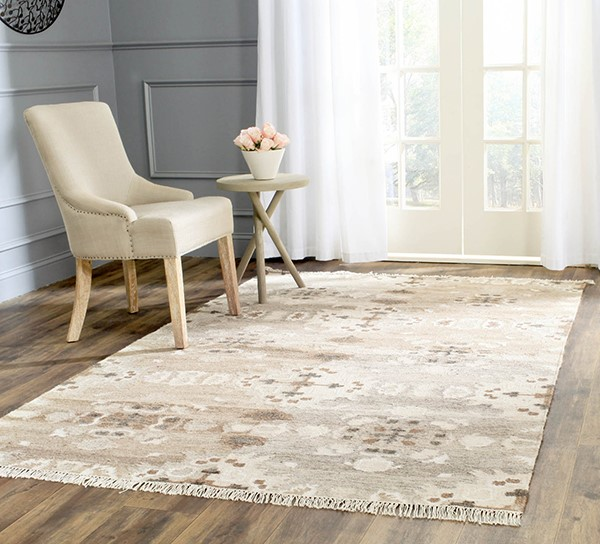 Grey (A) Moroccan Area Rug