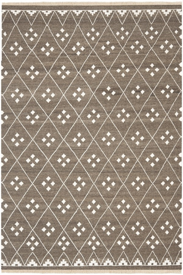Brown, Ivory (A) Southwestern / Lodge Area Rug
