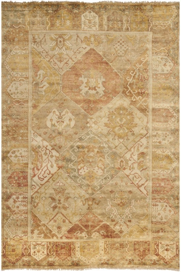 Gold, Brown (A) Traditional / Oriental Area Rug