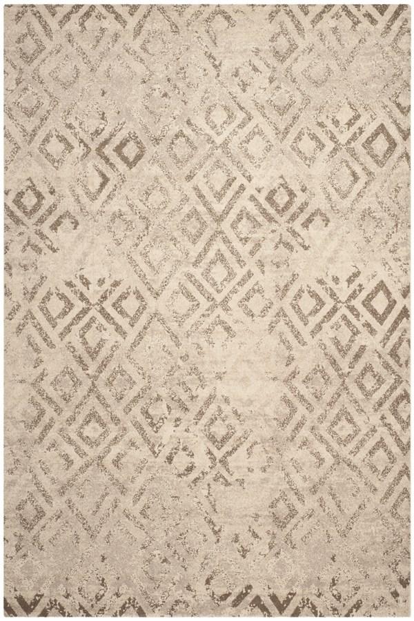Ivory (KMK) Transitional Area Rug