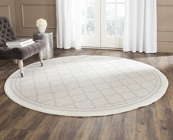 Beige, Light Grey (E) Contemporary / Modern Area Rug