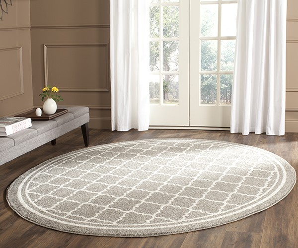 Dark Grey, Beige (R) Moroccan Area Rug