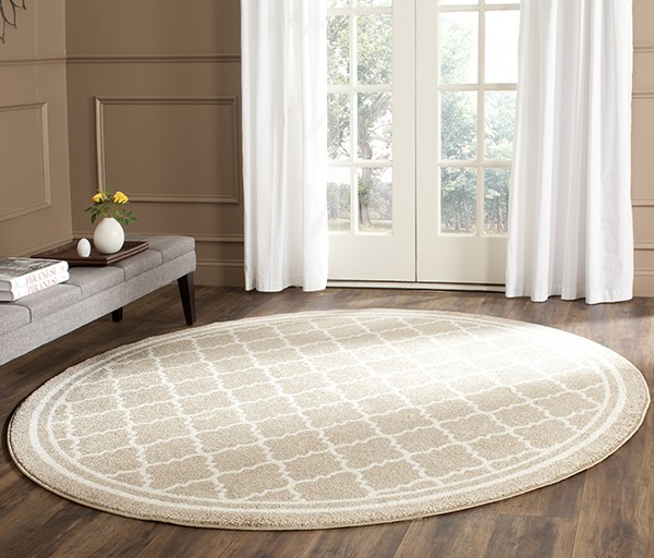 Wheat, Beige (S) Moroccan Area Rug