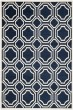Product Image of Contemporary / Modern Navy, Ivory (P) Area Rug