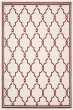 Product Image of Moroccan Ivory, Red (H) Area Rug