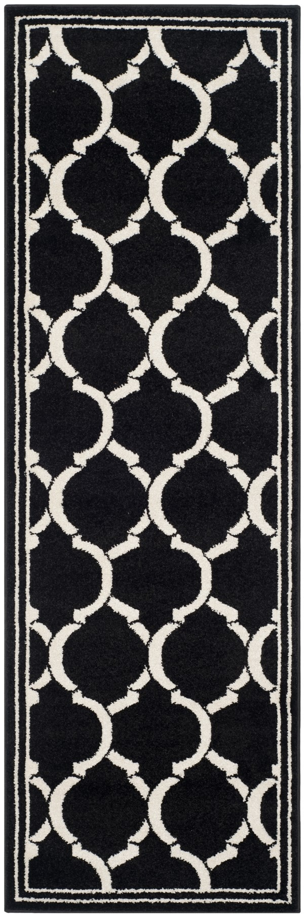 Anthracite, Ivory (G) Moroccan Area Rug