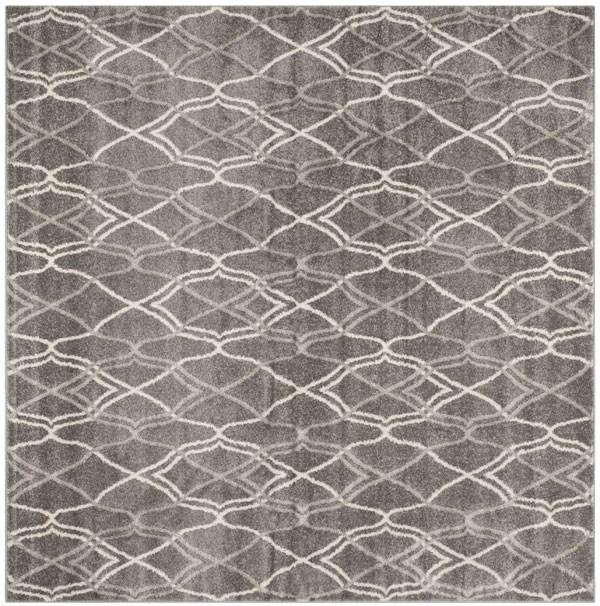 Grey, Light Grey (C) Moroccan Area Rug