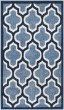 Product Image of Moroccan Light Blue, Navy (Q) Area Rug