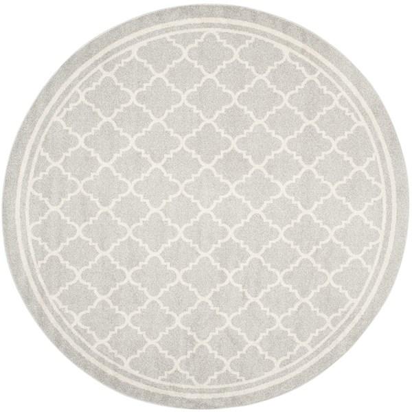 Light Grey, Beige (B) Moroccan Area Rug