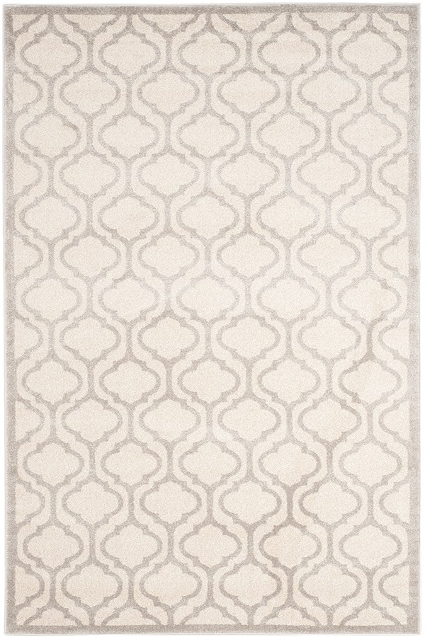 Ivory, Light Grey (K) Moroccan Area Rug