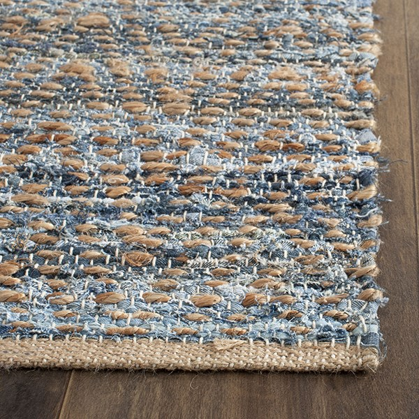 Natural, Blue (A) Casual Area Rug