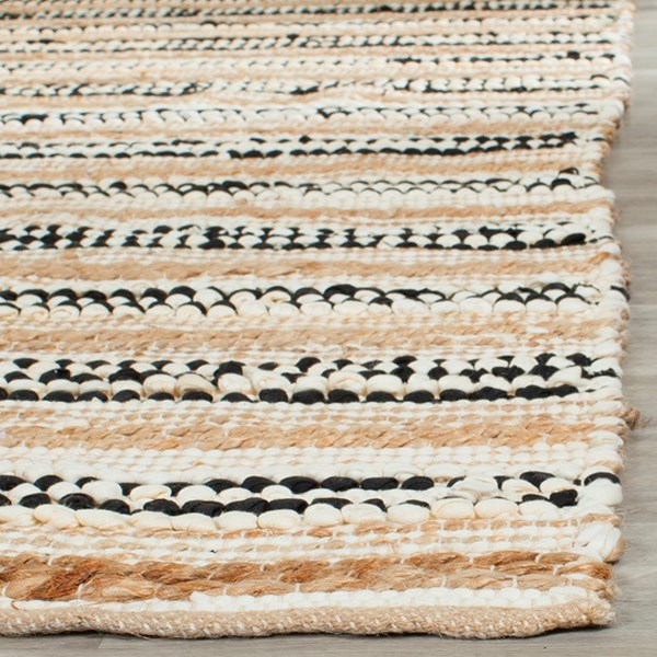 Natural, Black (A) Casual Area Rug