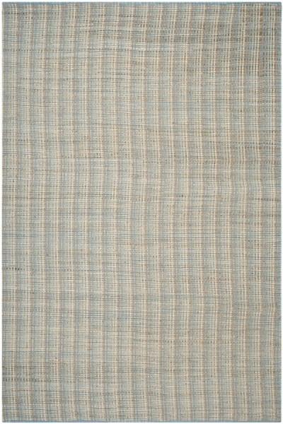 Grey (B) Striped Area Rug