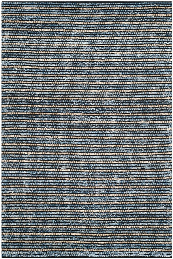 Blue, Natural (A) Casual Area Rug