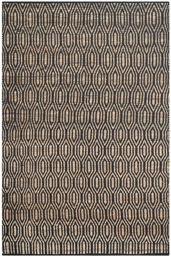 Black, Natural (A) Casual Area Rug