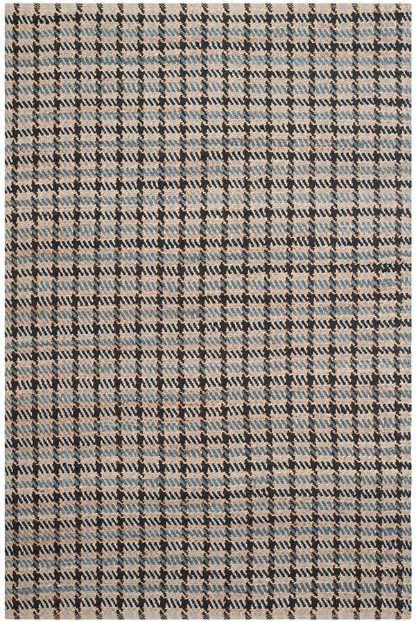Grey, Natural (D) Casual Area Rug